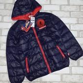 Оригинал!Куртка демисезон для мальчика Spider-men размер 126/136,укр почта-доставка бесплатно!