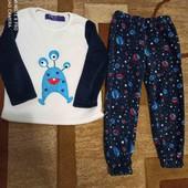 Теплая пижама на 4-5 лет, р.104-110 см