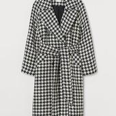 Пальто «гусиная лапка» без пояса H&M. Не пропустите!!@