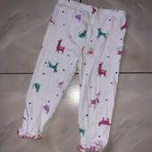 Стоп! ❤Веселые зверушки)штанишки для малышки,для сна и отдыха,1-2 года❤Собирайте лоты