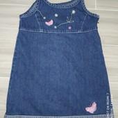 Сарафан джинсы девочке на 5-6лет. Отличный вариант для детсада