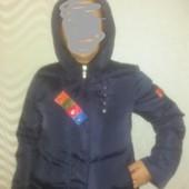 Короткая курточка демисезон.Цвет синий.Размер XL