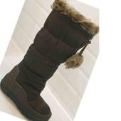 25,5 см. или 26 см. Классные дутики сноубутсы. Мягкие, теплые и непромокаемые