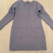 Тёплое стёганное платье 10,S длинный рукав