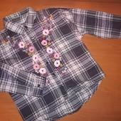 Рубашка для девочки на 5 лет, на рост 110