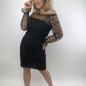 Шикарное вечернее нарядное платье, размер 42-44, 44-46, 46-48 с верхом сеточкой, 2 цвета!
