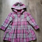 Деми пальто m&s на 2 года в хорошем состоянии в составе шерсть