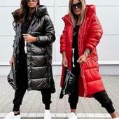 Стильная удлинённая куртка-пальто, размеры S, M, L, xl, 2 цвета: красный, бутылка!!!