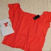 женская элегантная футболка- блуза кармен, оверсайз, от Esmara