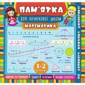 Пам'ятка для початкової школи. Математика. 1-2 класи