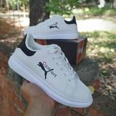Белые кеды/кроссы в стиле Puma