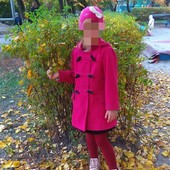 Фирменное пальто на девочку, 4-5 лет
