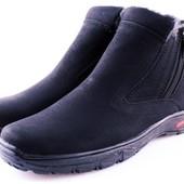 Зимние черные термо ботинки- Львов, две молнии по бокам.40-26.5 и 42-27.5см.