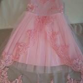 Нарядна сукня з шлейфом 9-11р.  - УП безкоштовно