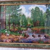 Картина вышитая чешским бисером