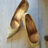 Шикарные новые итальянские туфли натуральная кожа наш 38р. Уп 15% нп 5% скидка