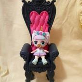 кресло-трон , мебель для кукол