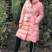 пальто!зимнее.крутое!!!холлофайбер!!дымчатая роза**