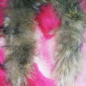 Натуральный мех енота на пальто, курточку, капюшон