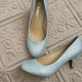 туфли серебро JM.Diamant 36 размер