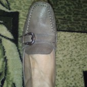Фирменные туфли мокасины