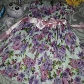 Платье нарядное рост 110-122 плотный атлас Очень красивое!