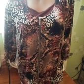 Нарядная блуза со змейкой (обманка) на шикарные формы