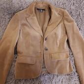 вельветовый пиджак с латками Zara р.S