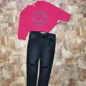 Стильный комплект Костюм Джинсы штаны брюки Свитшот реглан кофта худи толстовка