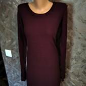 Бордовое базовое платье на осень Esmara