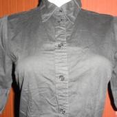 Черная рубашка боди-комбидресс в идеальном состоянии