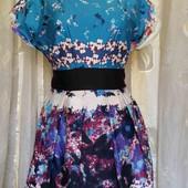 платье с цветочным принтом -котон