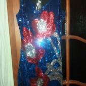 Платье-туника с пайетками