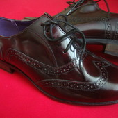 Туфли броги Clarks оригинал натур кожа 42(8E) размер 27 см