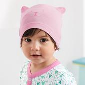 лот 2 шт. Детская шапочка из био-хлопка для малышки от Tchibo (германия) размер 45-48