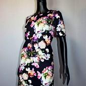 Качество! Красивое свободное платье в цветочный принт/3d от River Island, новое состояние