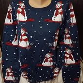 Шикарный новогодний свитер. Размер 48-50.