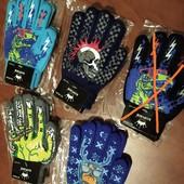 Тёплые перчатки с начёсом 6-12л. 1шт.в лоте,по ставке можно докупить, УП-10%