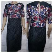 Платье миди коттоновое стильное качественное р 10 next идеальное