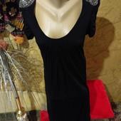 Шикарное чёрное платье трикотажное стречь. Вискозы100%. So Fabulous. Размер указен 18.