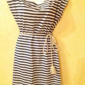 Легкое платье хлопок + пояс плетений