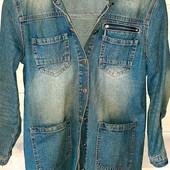 Пиджак джинсовый удлинённый 44-46р
