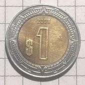 Монета Мексики 1 песо 2008