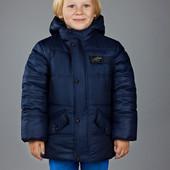 Зимняя куртка для мальчика размер 36 на рост 134 смотрите замеры. Цвет - синий.