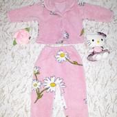 Стоп!♥️Тепленькая пижамка для девочки 4-8 мес.