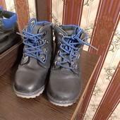 Зимние кожаные ботинки внутри овчинка