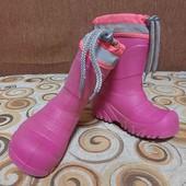 Резиновые сапоги со съёмным тёплым носком, сапоги эва пена 26-27размер, длина стельки по носку 18см