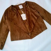 Стильный замшевый пиджачок шоколадного цвета. C&A (Германия)