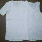 Лот 2 шт! Мужская футболка + майка Livergy размер 6 / L, много лотов с мужским бельём)