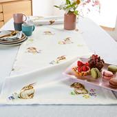 """☘ Скатертина-доріжка для сервірування столу принт """"кролі"""" від Tchibo (Німеччина)"""